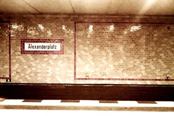 Berlin (Allemagne). Station de métro Alexanderplatz