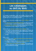 Plaquette d'information « Les catalogues au défi du web »