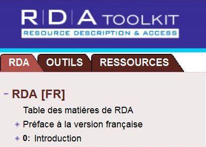 Le RDA Toolkit en français